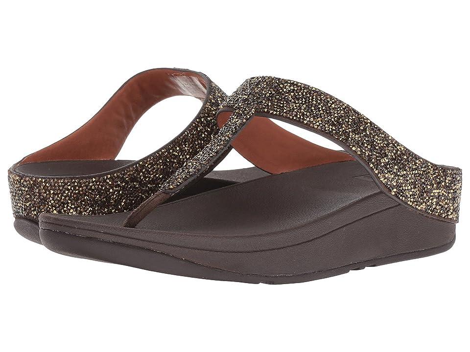 FitFlop Fino Quartz Toe Thong Sandals (Gold) Women