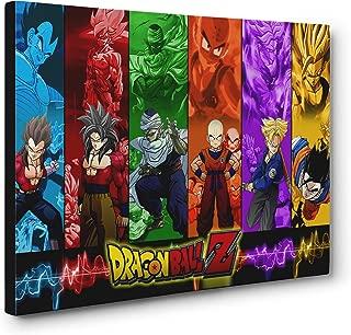 OneCanvas Dragon Ball Z Characters Super Saiyan Canvas Print Poster Wall Art (12x18in. Small)