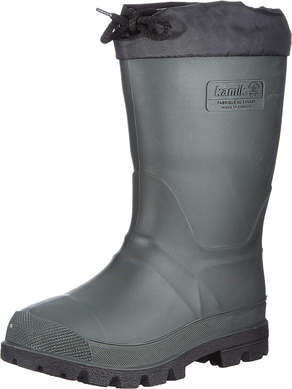 Kamik Kids' Forester Winter Boot Khaki/Black 5
