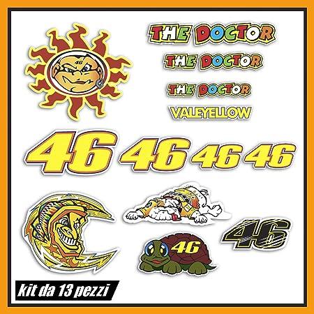 Kit de adhesivos Valentino Rossi The Doctor 46 Logo Panel entero 13 piezas Oferta Moto Casco Motocicleta
