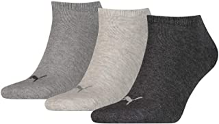 Puma Men's Running Socks - Grey/Black/White, Size 35