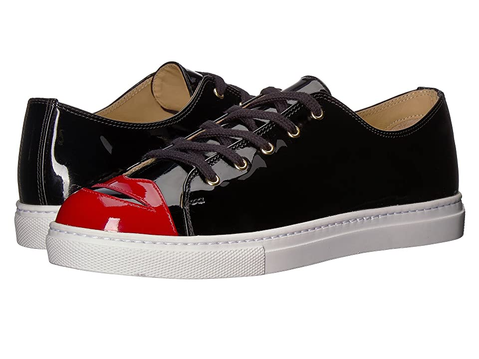 Charlotte Olympia Kiss Me Sneakers (Black Patent) Women