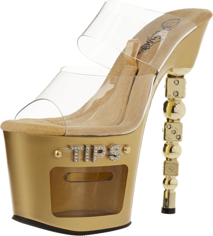 Pleaser Women's Dice-702-2 Platform Sandal