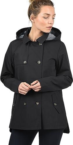 DESIRES Tine Damen Trenchcoat Mantel übergangsjacke mit Kapuze