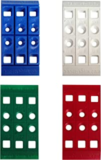 Handi-Shim Heavy Duty Reusable Plastic Construction Shims for Spacing, Leveling, Plumbing and More - 40 Piece Assorted Pack (4 sizes)