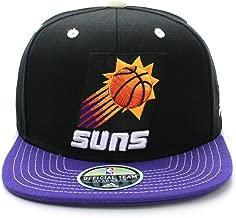 Phoenix Suns Wave Purple/Orange Two Tone Snapback Adjustable Plastic Snap Back Hat / Cap
