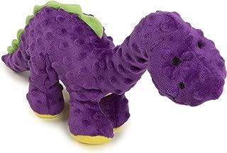 goDog Dinos Bruto with Chew Guard Tough Plush Dog Toy, Purple, Large