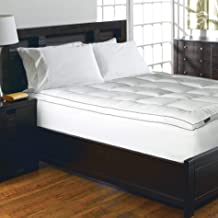 Blue Ridge Home Fashions Elle 1200 Thread Count Cotton-Rich Solid Mattress Pad, Twin, White
