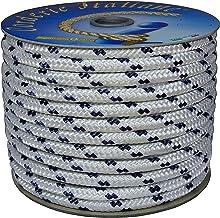 Corderie Italiane 006000488 vlechtwerk, wit met blauw signaal