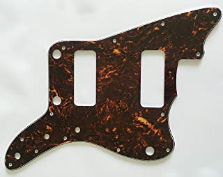 Electric Guitar Pickguard for Fender Japan Jazzmaster P90 No Rhythm Control Style (4 Ply Brown Tortoise)