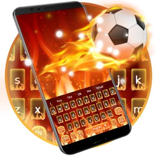 Fire Football Keyboard Theme