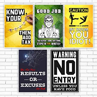 VCR Designer Wall Poster for Decoration Home, Offices & Shops | Big Size (45 cm x 30 cm) | HD Prints | Combo Pack of 10 | ...