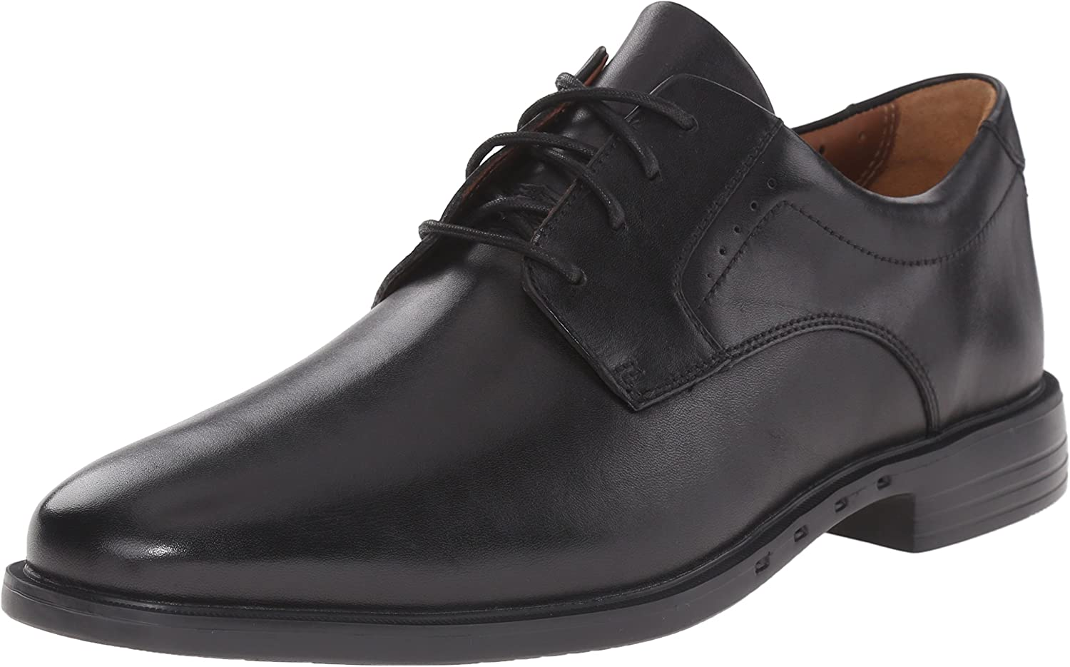 Clarks Men's Unbizley Plain Leather Lace-Up shoes