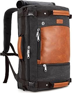 Plambag Canvas Travel Backpack Duffel Bag 3-Way Retro Laptop Briefcase