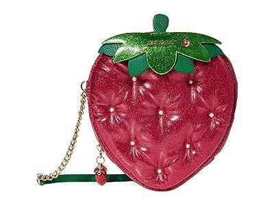 Betsey Johnson Strawberry Feels 4 Eva Crossbody (Red) Cross Body Handbags