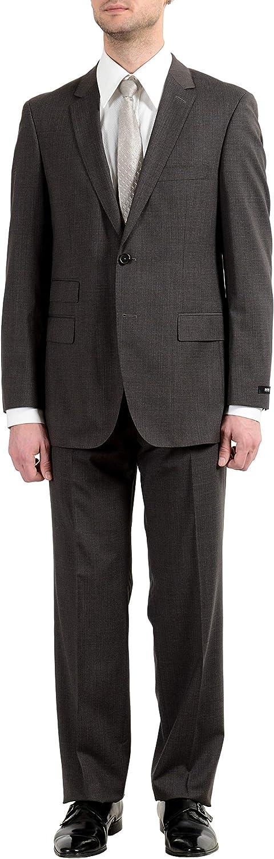 Hugo Boss Edison2/Power Men's 100% Wool Brown Two Button Suit US 42L IT 52L