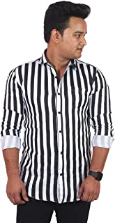 classic denim Black Lining Casual Shirt