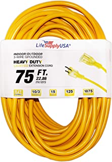 Mighty Cord 50 Valterra A10-5050EHLED 50 Amp Extension Cord w//LED Lighted Ends-50