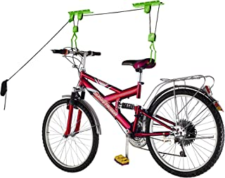 Bike Lane Products Bicycle Hoist Quality Garage Storage Bike Lift with 100 lb Capacity Even Works as Ladder Lift Premium Quality