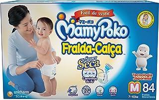 Fralda, Calça M, Super 84P, Mamypoko, Branco