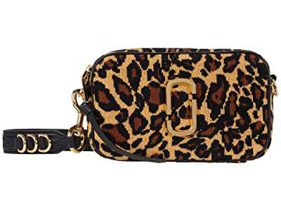 Marc Jacobs The Softshot 21 Leopard Crossbody (Black Multi) Cross Body Handbags