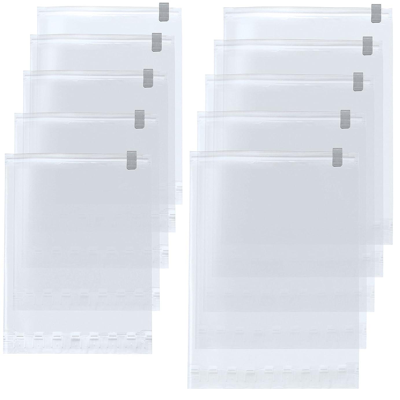 リード艦隊聡明【Amazon.co.jp限定】 掃除機不要!  衣類圧縮袋 M?L 各5枚 10枚組 日本製 旅行 旅行用