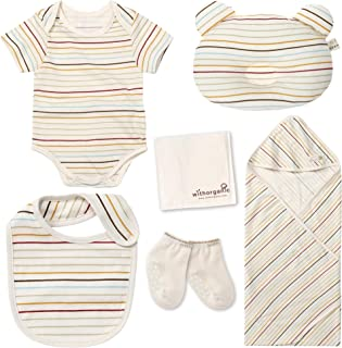 WithOrganic Newborn Gift Set | 100% Organic Certified Cotton | 7 Pieces | for Baby Boy or Girl