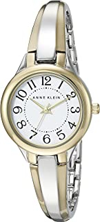 Women's AK/2453WTTT Easy To Read Dial Two-Tone Bangle Watch