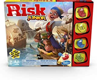 Hasbro Gaming Risk Junior Game: Strategy Board Game; A Kid's Intro to The Classic Risk Game for Ages 5 and Up; Pirate Them...