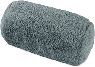 Berkshire Blanket Extra-Fluffy Plush Neckroll Removable Easy to Wash Cover Throw Pillow, Smoke