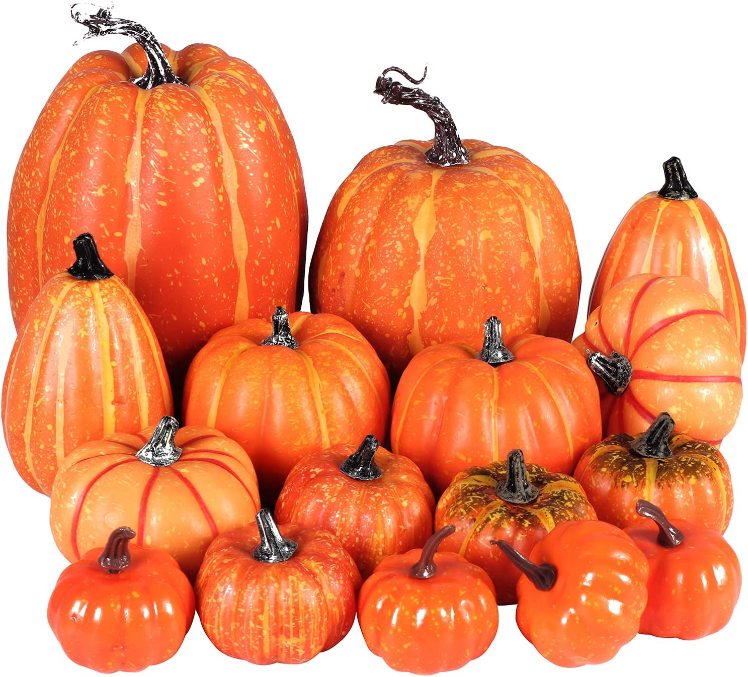 Lasutho Ranking TOP17 16pcs Harvest Complete Free Shipping Artificial Pumpkin Fall Tha Party for