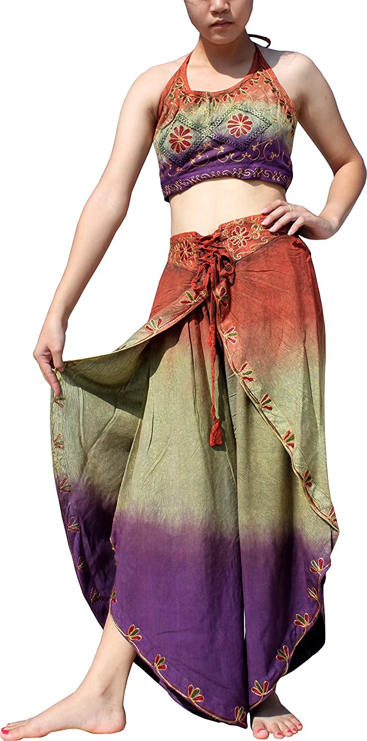 Full Funk Full Gypsy Genie Indian Dance Set Halter Shirt and Harem Pants