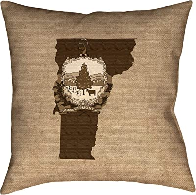 ArtVerse Katelyn Smith 40 x 40 Floor Double Sided Print with Concealed Zipper /& Insert Delaware Pillow