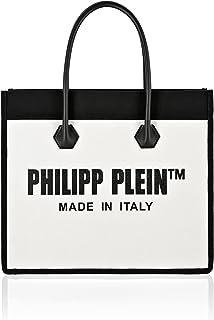 Philipp Plein Damen Canvas Handle bag TM Schwarz