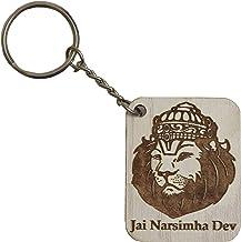 Narsimha Dev Key Ring (White)- VRINDAVANBAZAAR.COM