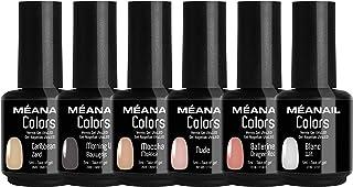 Set de Esmaltes de Uñas Gel UV LED 6 Colores Esmaltes Semipermanente Laca Soak Off Gel Nail Polish Collection Nude Ideal M...