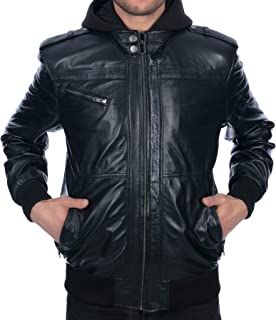 Best leather bomber jacket slim fit Reviews