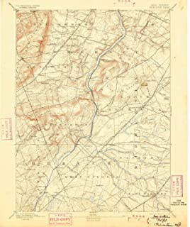 YellowMaps Princeton NJ topo map, 1:62500 Scale, 15 X 15 Minute, Historical, 1894, Updated 1899, 19.7 x 16.6 in