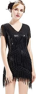 1920s Flapper Dress Long Fringed Gatsby Dress Roaring 20s Sequins Beaded Dress Vintage Art Deco Dress
