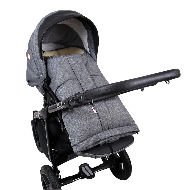 Babylux Winterfußsack Mumie 110cm Kinderwagen Schlitten Fußsack Lammwolle Braun Baby