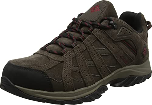 Columbia Homme Chaussures Multisport, Imperméable, CANYON POINT LEATHER, Brun (Cordovan, rouge Element), Pointure   40