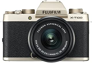 Fujifilm X-T100 24.2 MP Mirrorless Camera with XC 15-45 mm Lens (APS-C Sensor, Electronic Viewfinder, Face/Eye Detection, ...