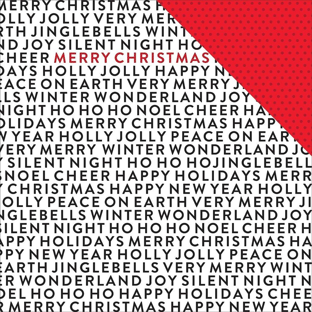 American Crafts Deck The Halls Winter Wonderland Christmas Scrapbook Paper