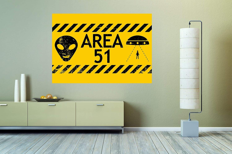 SEAL limited product Area 51 UFO Alien Sign Wall Vinyl De Decal Mural Sticker Car Luxury Art