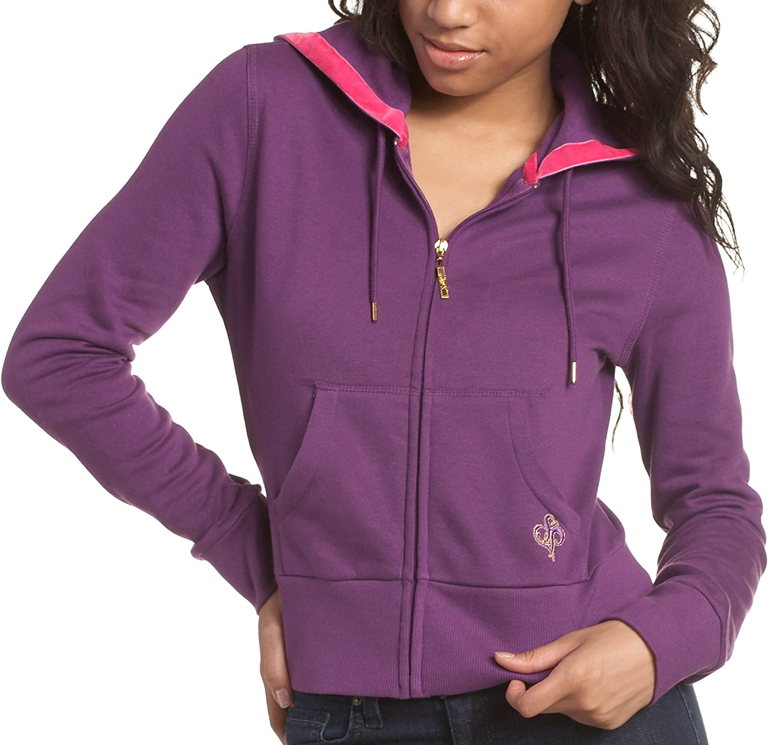 Southpole Juniors Solid Full Zip Hoody