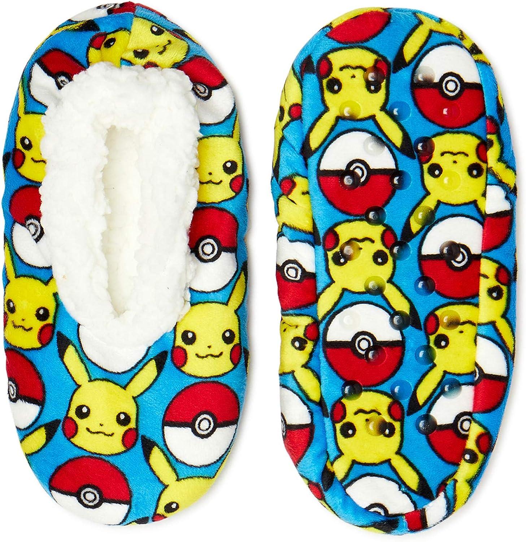 Pokemon Pikachu AOP Boys Fuzzy Babba Slippers