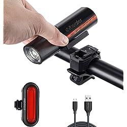 Cycleafer Luz Bicicleta Recargable USB