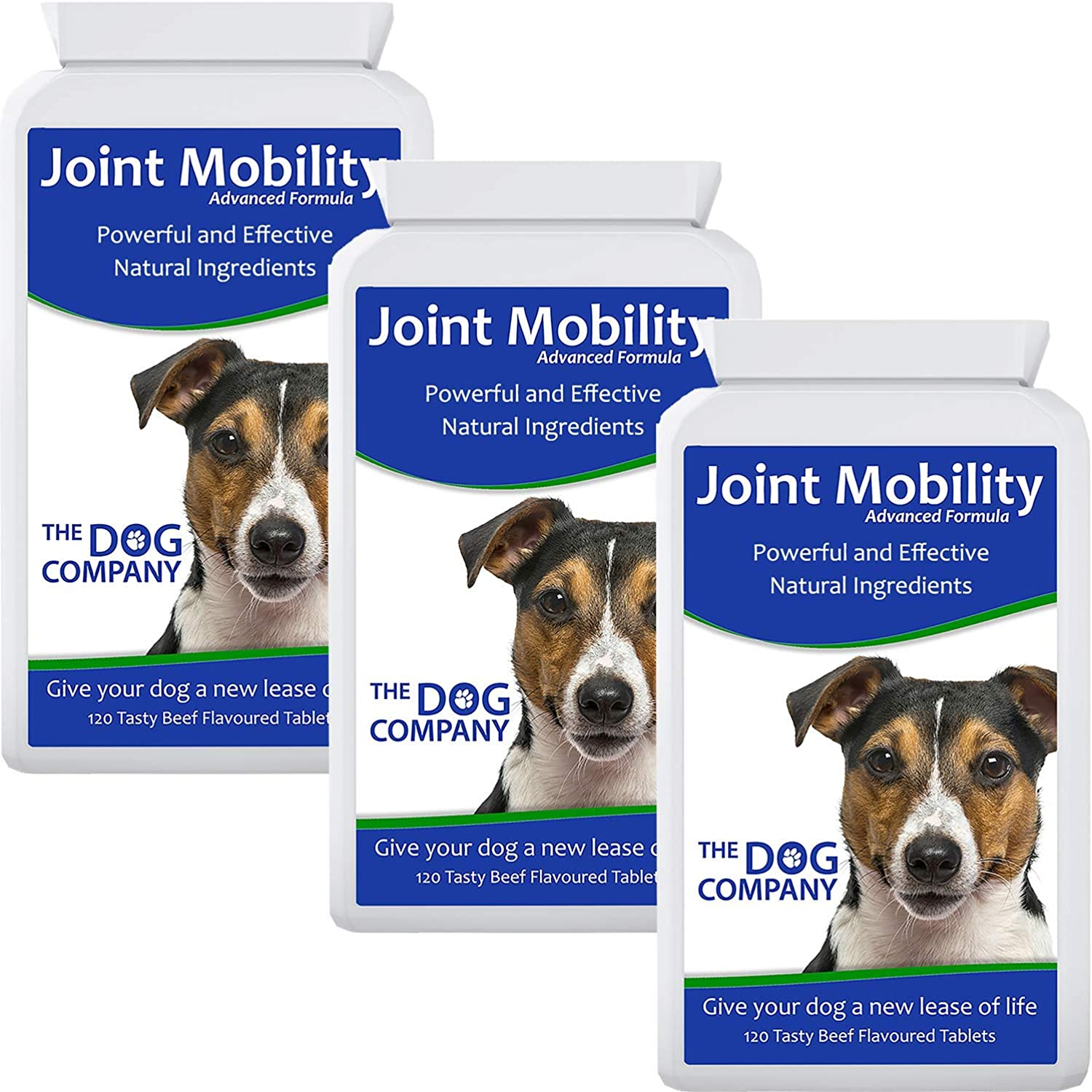 Dog Glucosamine Joint Supplement Tablets   Turmeric & Boswellia Joint Aid for Dogs   Joint Mobility   360 Tablets   Made in the UK