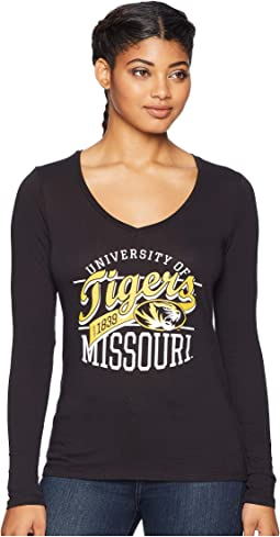 Missouri Tiger Long Sleeve V-Neck Tee
