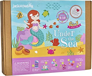 jackinthebox Under The Sea Themed Craft Kit | Includes Beautiful Felt Mermaid Sewing | 6 Different Crafts-in-1 | Best Gift for Girls Ages 6 to 10 Years (6-in-1)